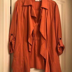 Orange Chico's Jacket, size 2